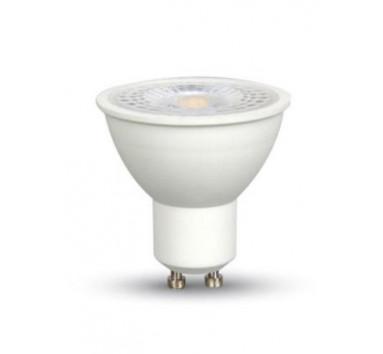 Spot à LED Culot GU10 - 7W - Blanc chaud - Effet loupe