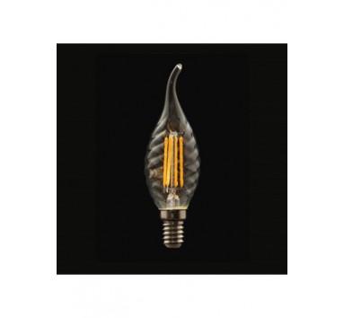 Ampoule a filament 4W Flamme torsadée Culot E14 Blanc chaud