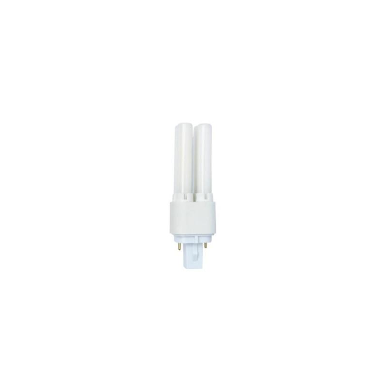 Tubeled - Ampoule à tube en verre - 6W - Blanc froid - Culot à broches - G24D - 2pointes