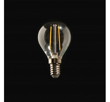 Ampoule LED à Filament Boule 2W E14 lumière chaude